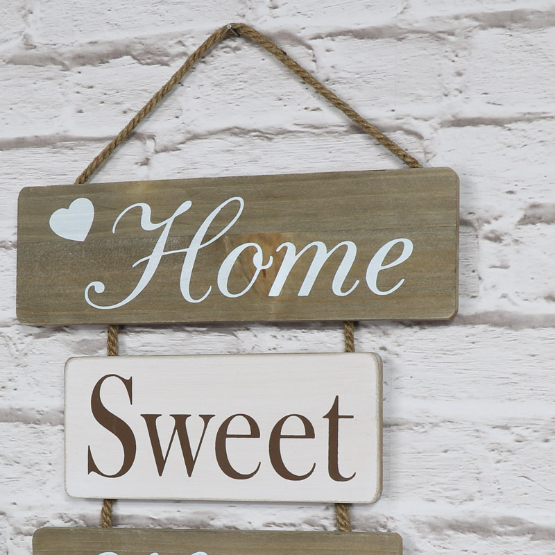 39 home sweet home 39 hanging wall plaque melody maison. Black Bedroom Furniture Sets. Home Design Ideas