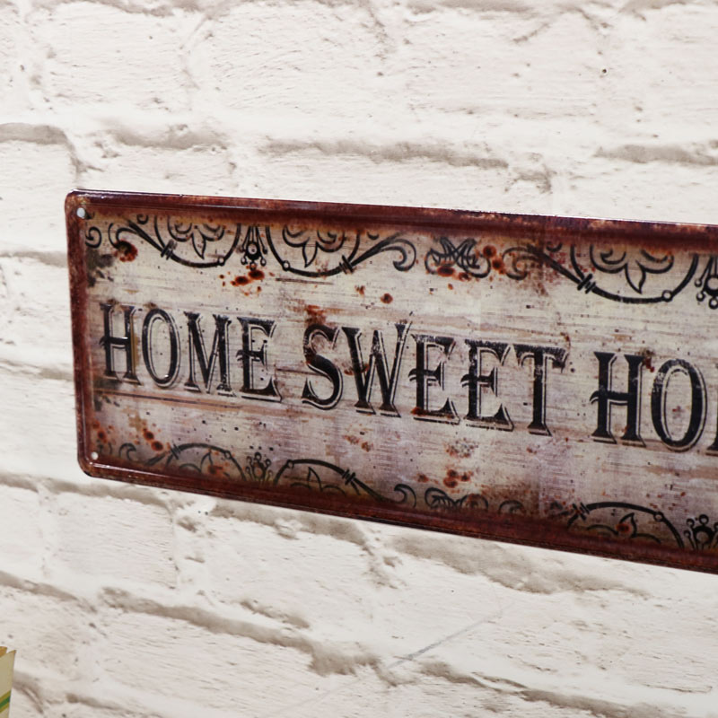 'Home Sweet Home' Metal Wall Plaque - Melody Maison®