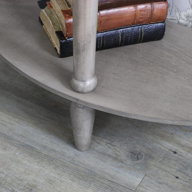 Hornsea Range - Wooden Half Moon Console Table