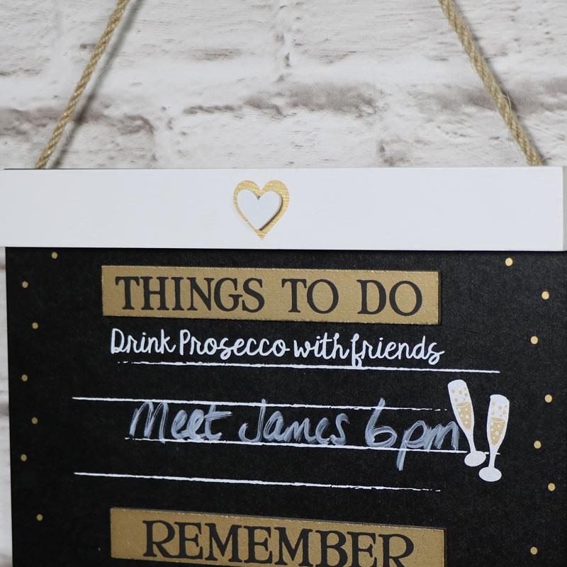 Humorous Prosecco Chalkboard