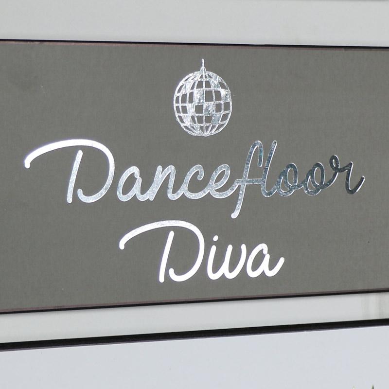 """Humorous Wall Plaque """"Dancefloor Diva"""""""