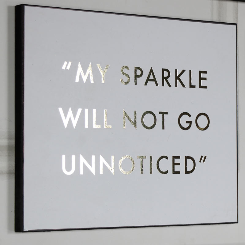 "Humorous Wall Plaque ""My Sparkle Will Not Go Unnoticed"""