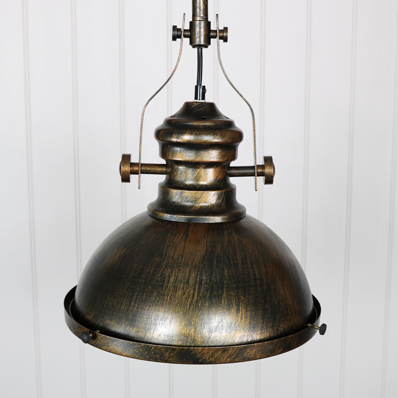 industrial gold ceiling pendant light fitting melody maison 174