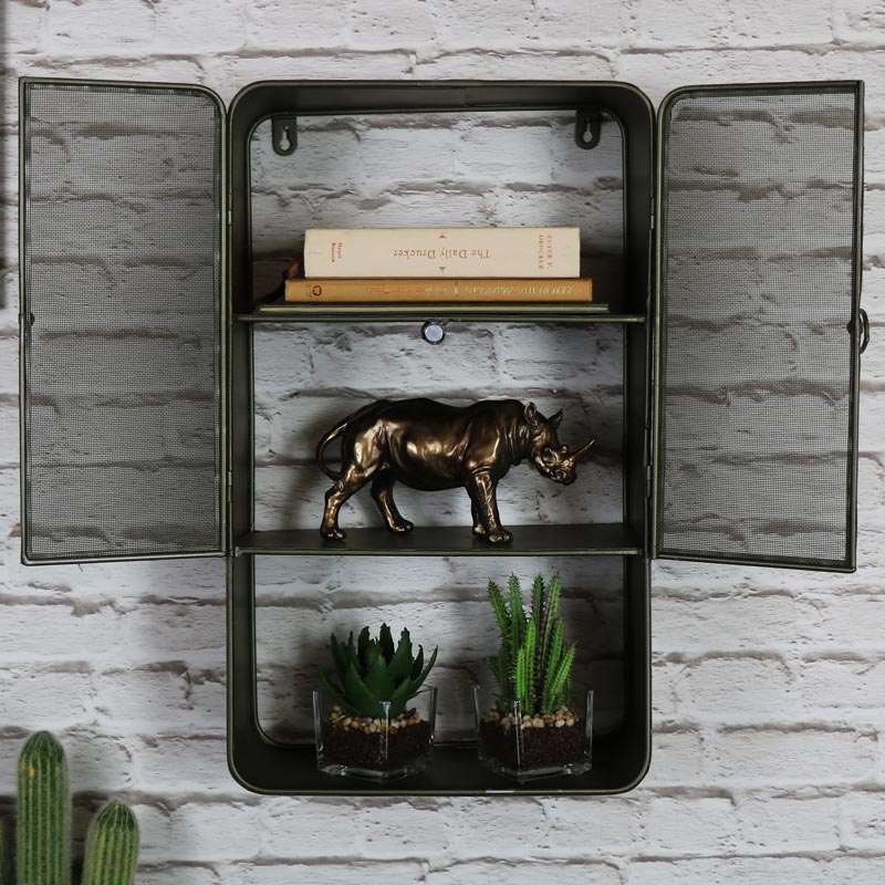 Industrial Metal Wall Cabinet
