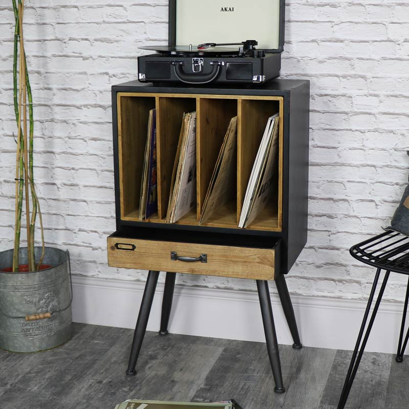 Industrial Retro Style Filing Cabinet With Extra Storage Melody