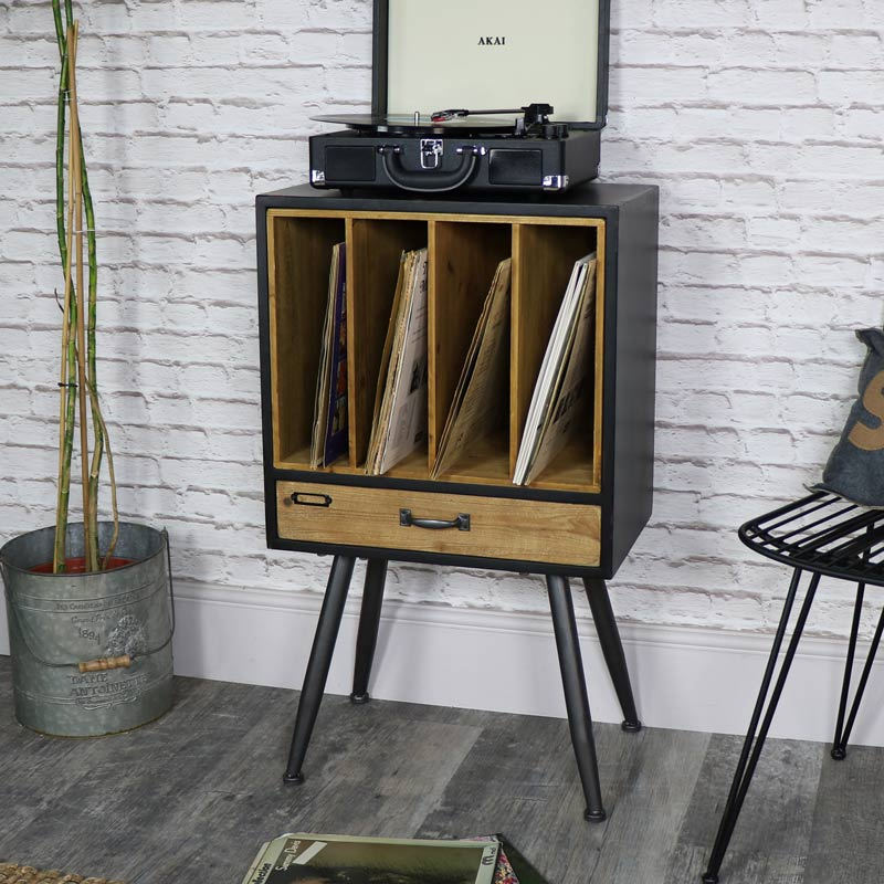Industrial Retro Style Filing Cabinet With Extra Storage
