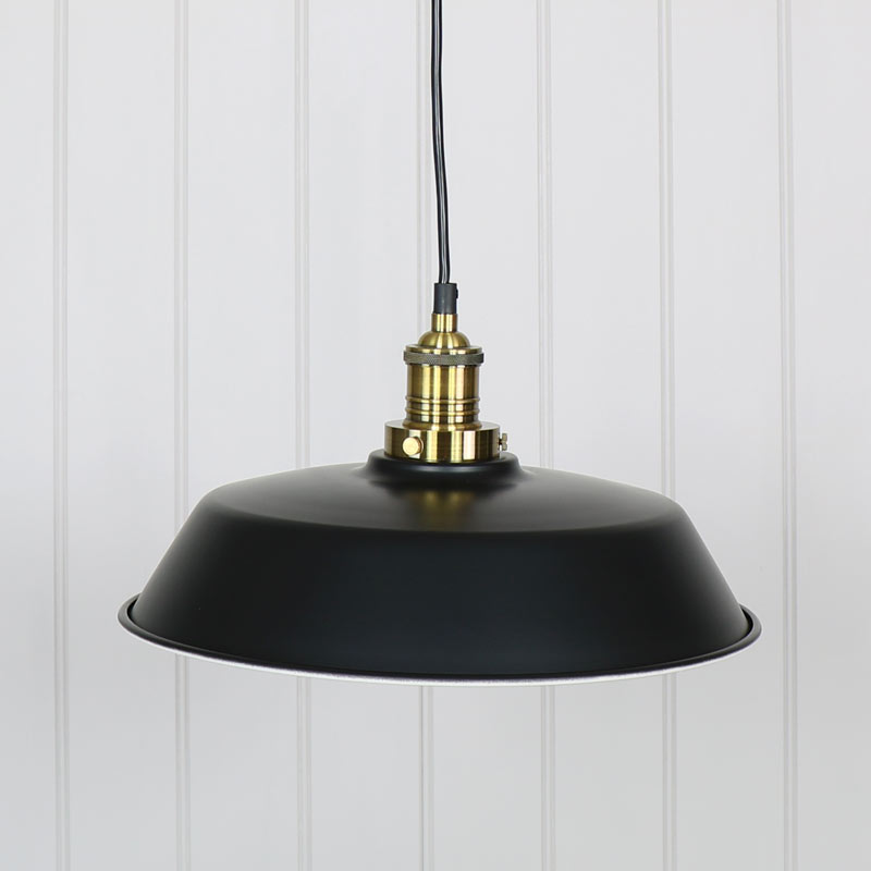 Industrial Retro Style Black Metal Pendant Ceiling Light