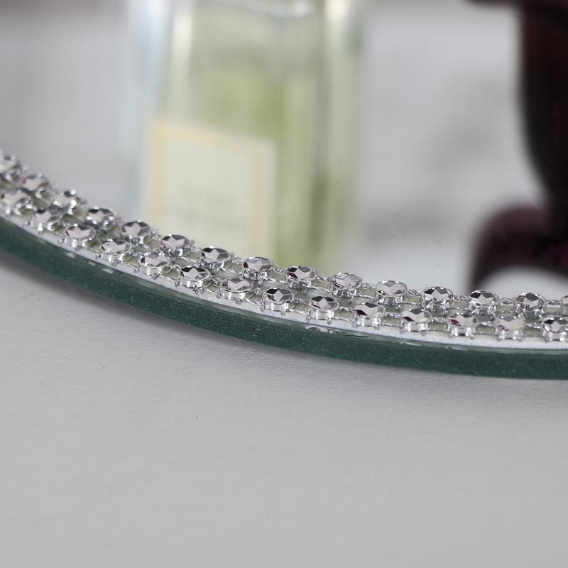 Jewelled Mirrored Display Plate