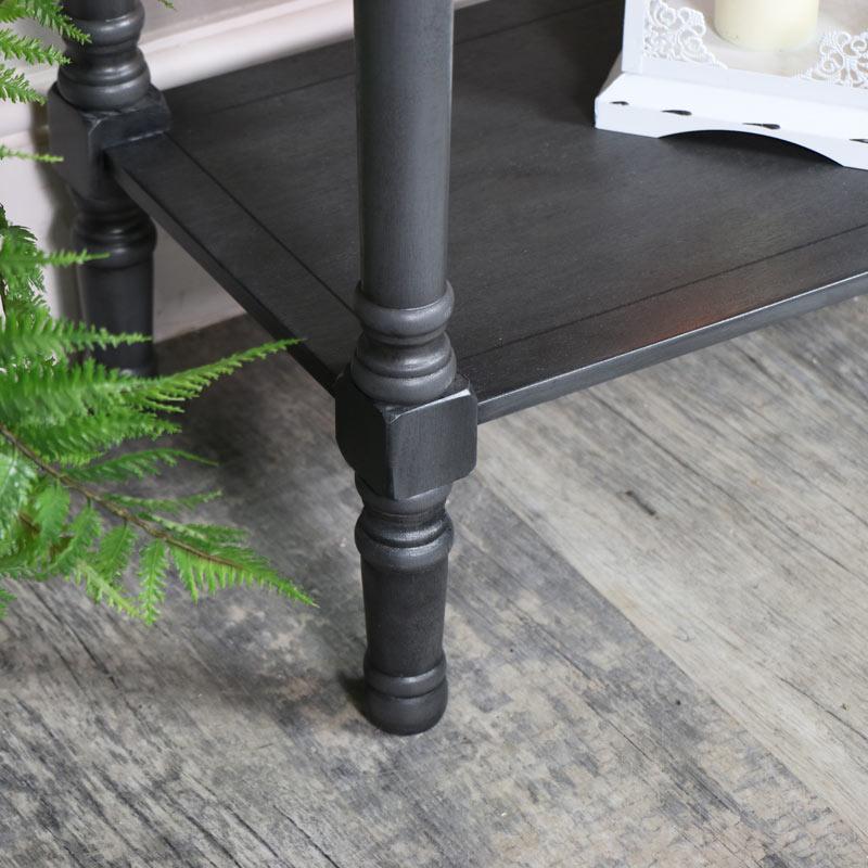 Large 3 Drawer Console Table Dark Grey - Lancaster Range