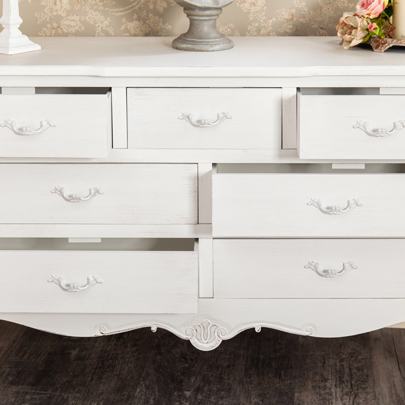 Large White Chest of Drawers - Jolie Range