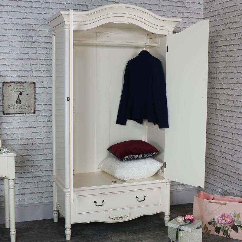 Incroyable ... Large Antique Cream Armoire Style Double Wardrobe   Adelise Range ...