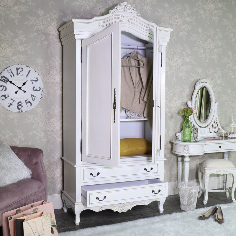 Large Double Armoire French Wardrobe - Limoges Range