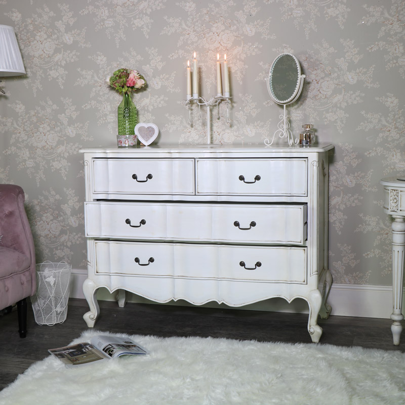 Large Cream Vintage Chest of Drawers - Limoges Range