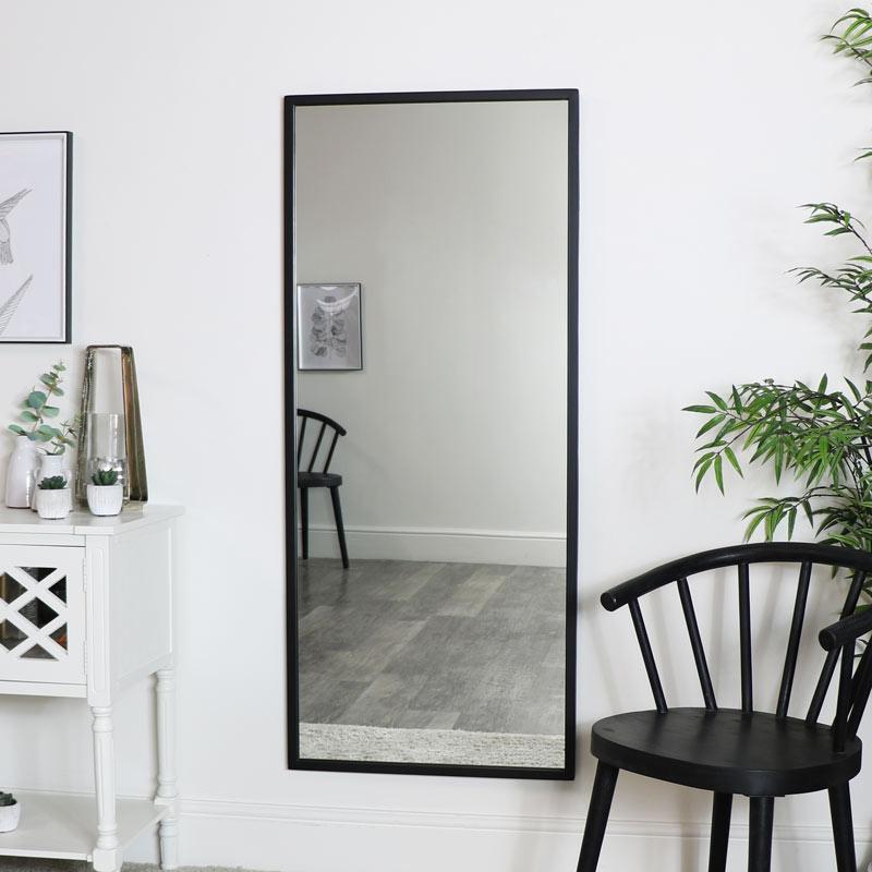 Large Black Rectangle Mirror 60cm X 140cm, Huge Wall Mirror Uk