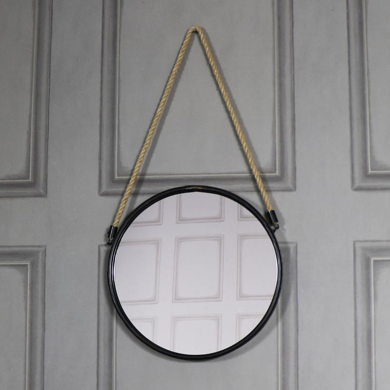 Large black rustic wall mirror melody maison for Big black wall mirror