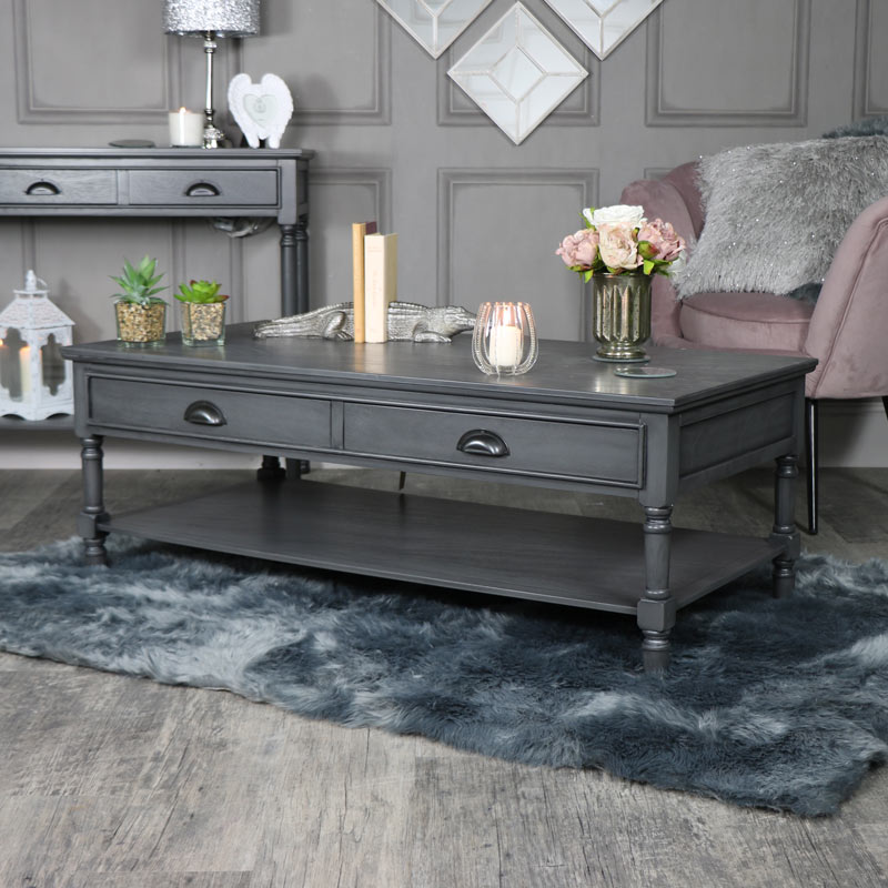 Charmant Large Dark Grey Coffee Table   Lancaster Range ...