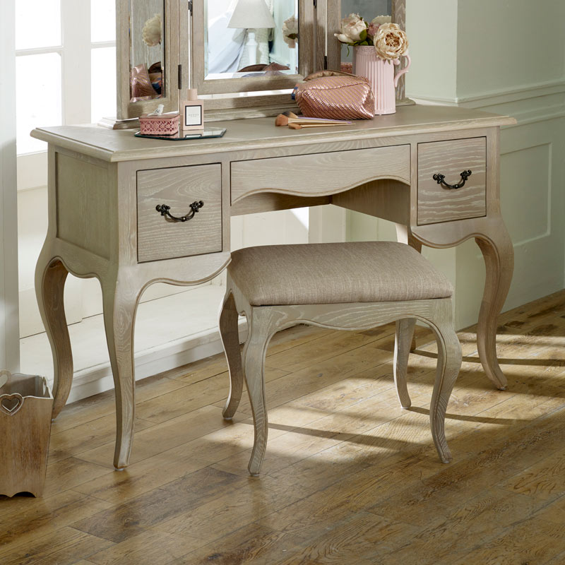 Large French Style Dressing Table Brigitte Range Melody Maison