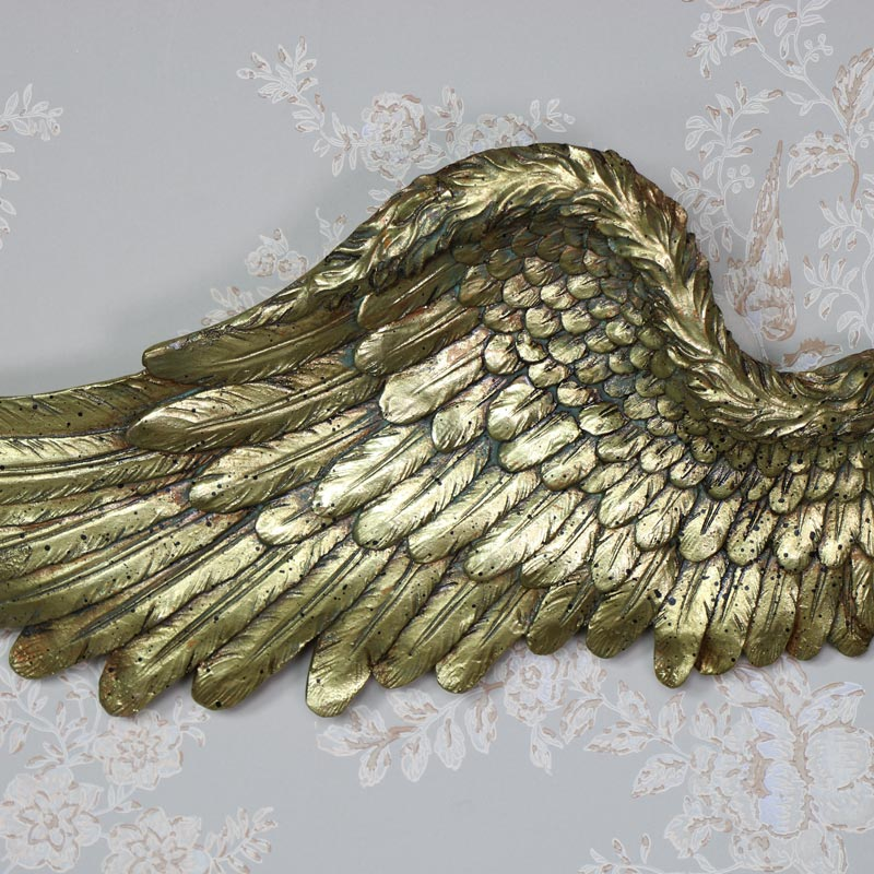 Large Gold Angel Wings