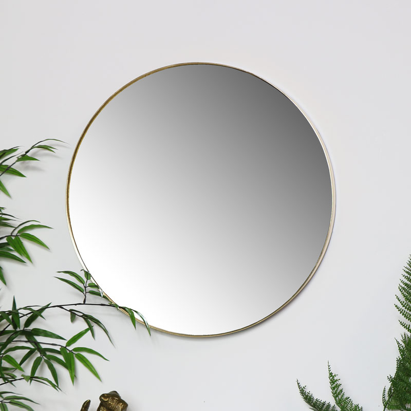 Large Gold Wall Mirror 51cm x 51cm