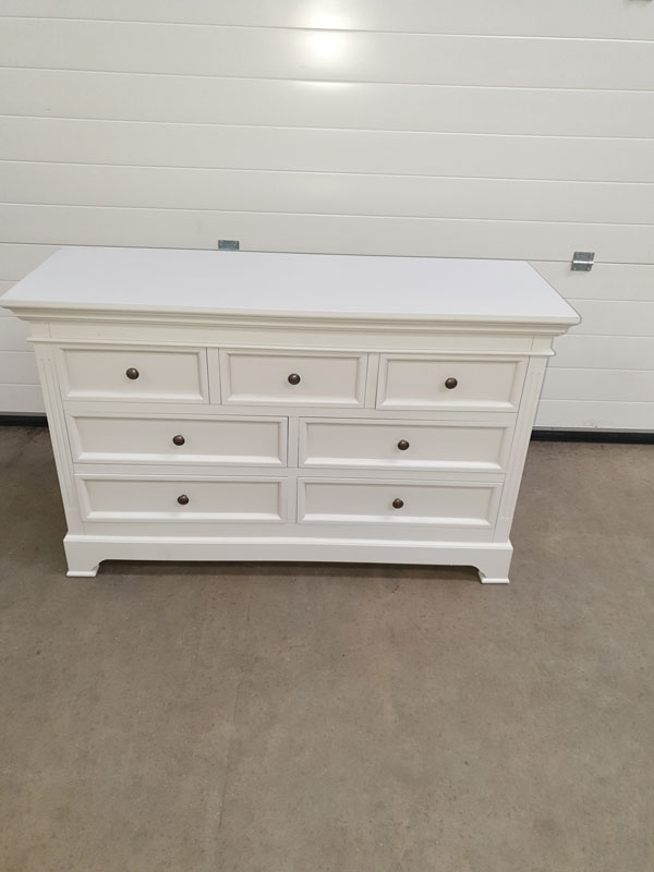 Large Grey 7 Drawer Chest of Drawers - Daventry Dove-Grey Range DAMAGED SECOND 2004
