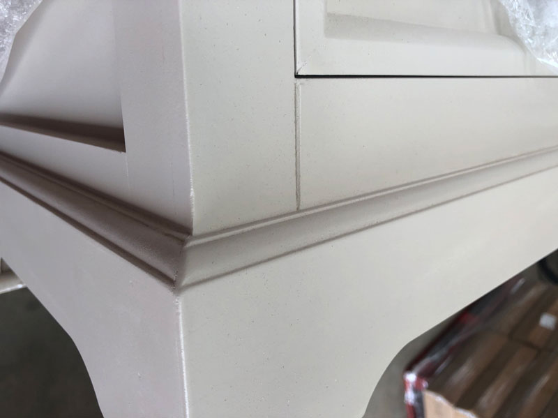 Large Grey 7 Drawer Chest of Drawers - Daventry Taupe-Grey Range DAMAGED SECOND 7012