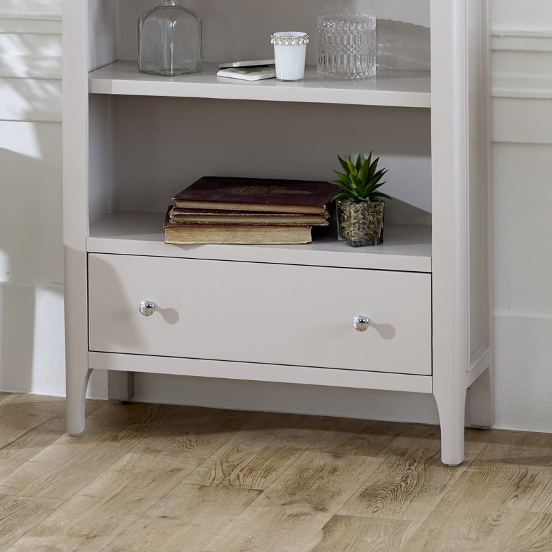 Large Grey Bookcase - Devon Range