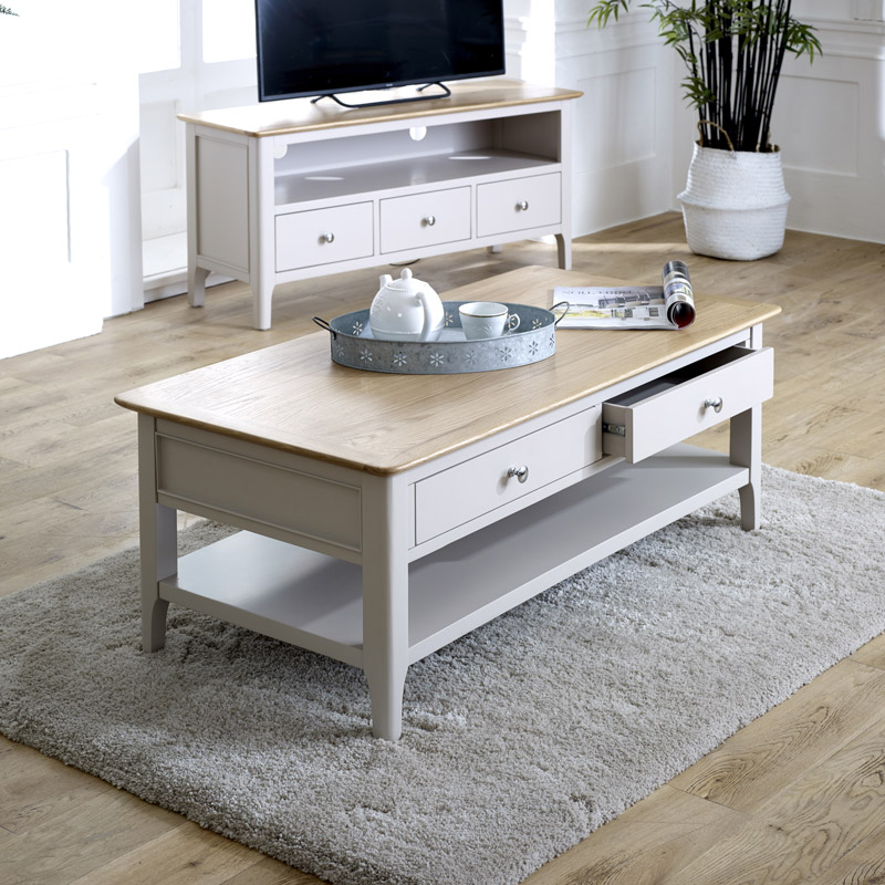 Large Grey Coffee Table - Devon Range