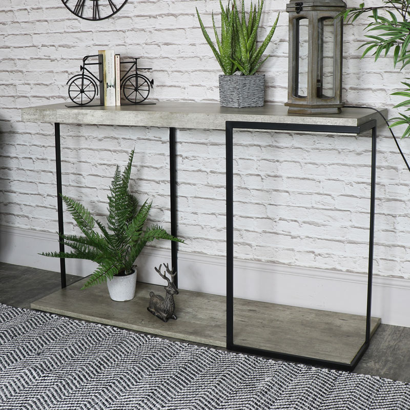 finest selection 6d7d3 86ee2 Large Industrial Concrete Style Console Table