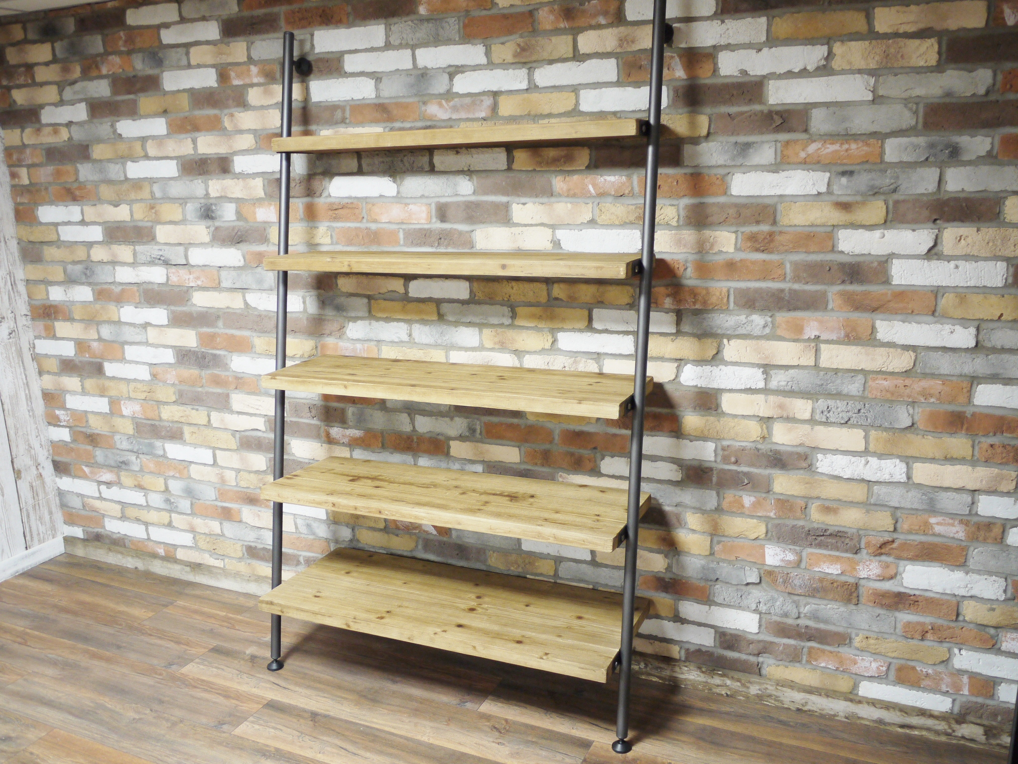 Very Large Wooden Industrial Ladder Style Shelving Unit - Melody Maison® FU47