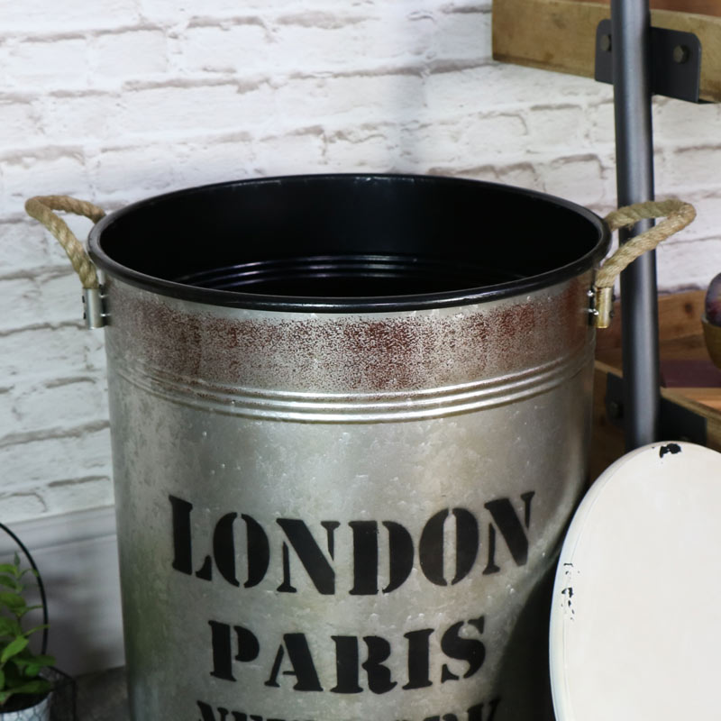 Large Industrial Metal Storage Bin