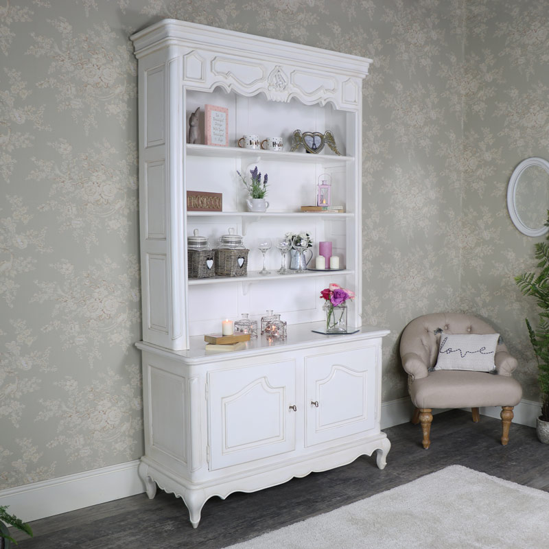 Large Ivory 2 Door Display Dresser - Louis XV Range