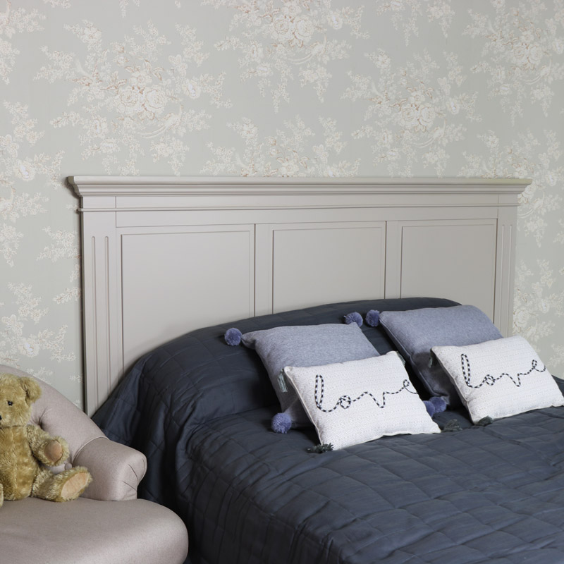 Grey King Size Headboard - Daventry Taupe-Grey Range