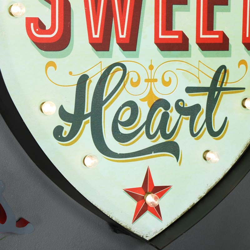 Large LED Heart Light Up Sign