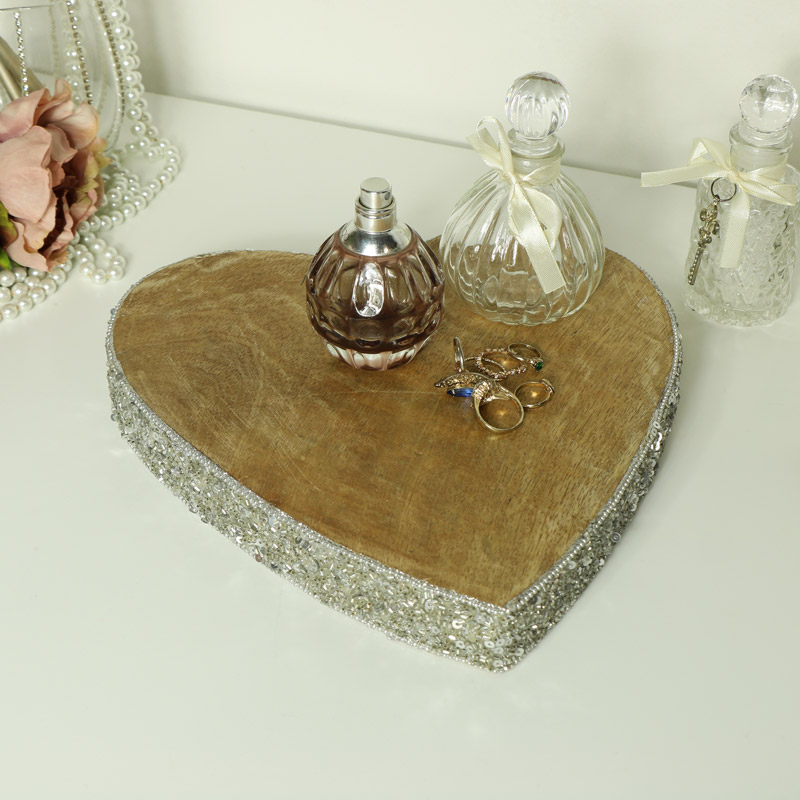 Large Mango Wood Heart Slice Log