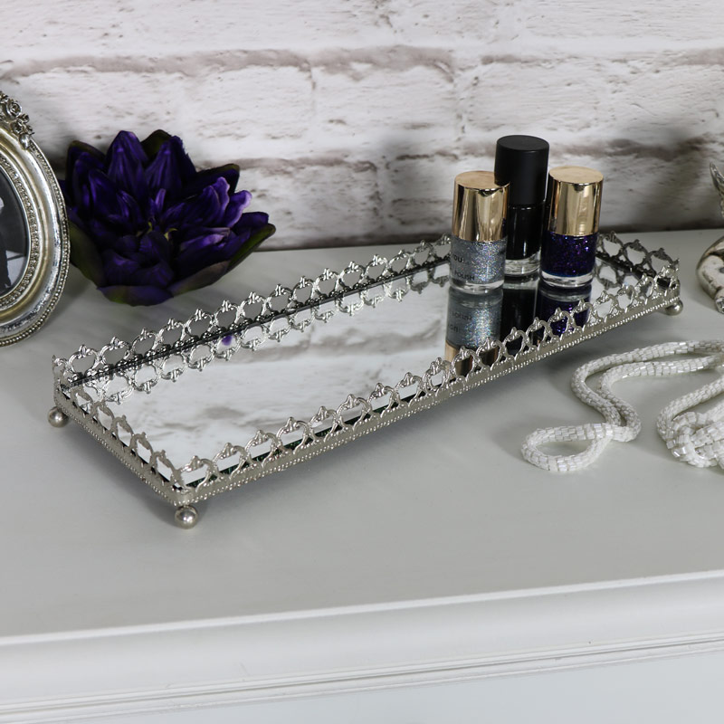 Large Mirrored Display Tray