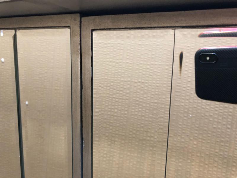 Large mirrored sideboard - Tiffany Range DAMAGED SECOND 1049