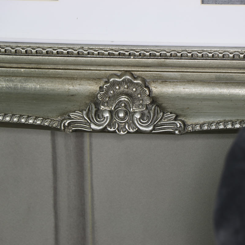Large Ornate Antique Silver Multi Photograph Frame