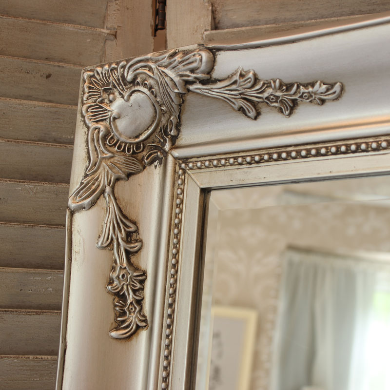 Large Ornate Silver Wall/Floor Mirror