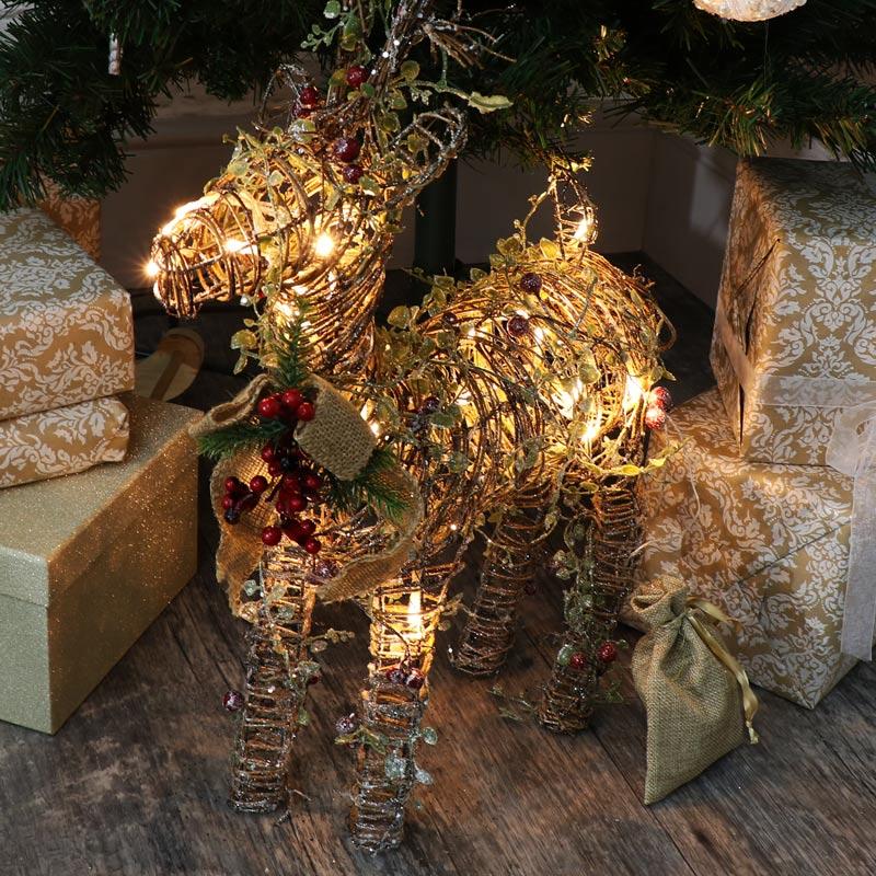 rattan christmas light balls