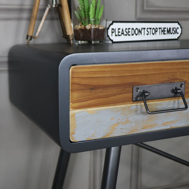 Large Retro Industrial Console Table – Chicago Range