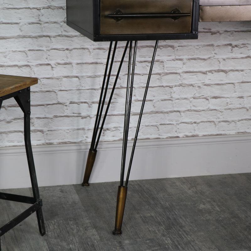 Large Retro Industrial Desk/Dressing Table