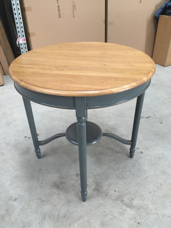 Large Round Grey Dining Table EX-SHOWROOM ITEM 0044