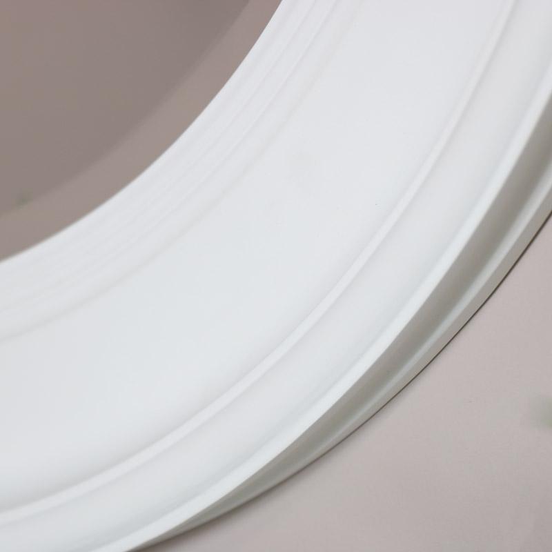 Large Round Vintage White Wall Mirror 80cm x 80cm