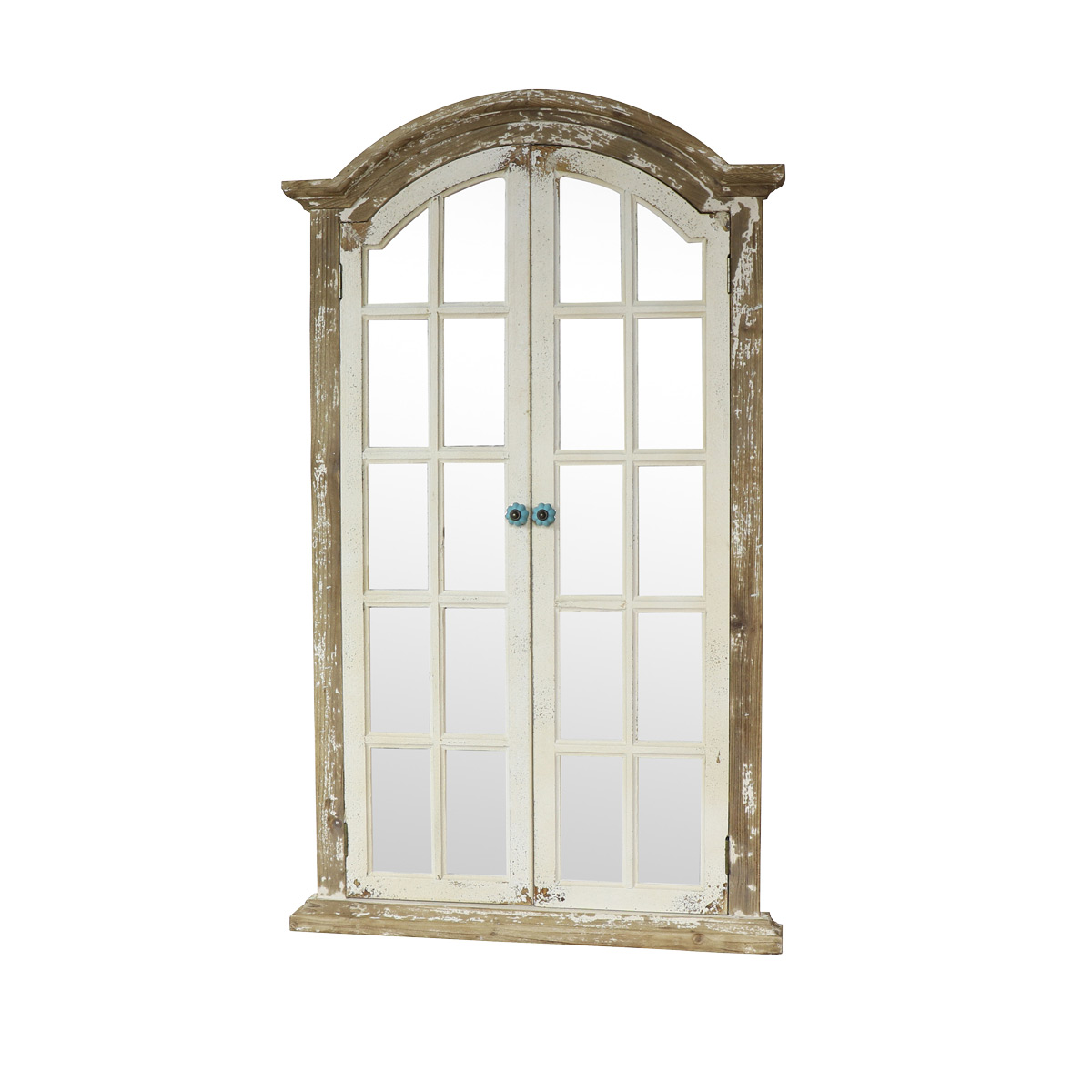 Large rustic shutter style window mirror 73cm x 123cm for Window mirror