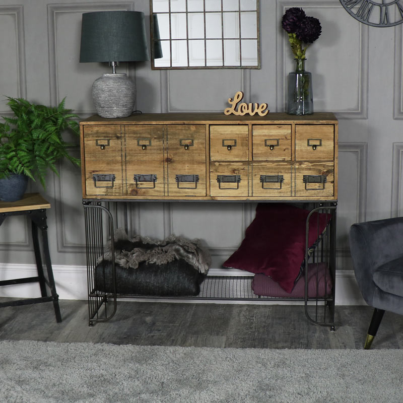 Large Rustic Sideboard with Drawer Cupboard Storage