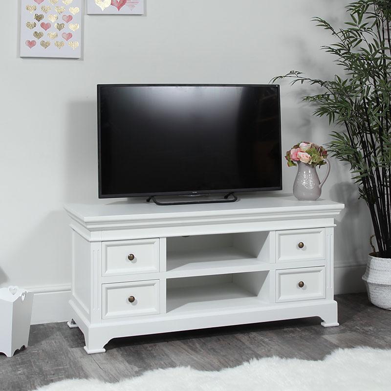 Large TV / Media Unit – Daventry White Range