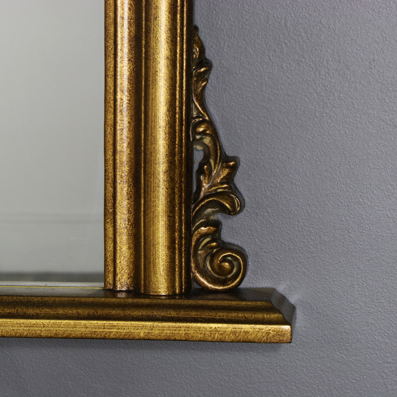 Gold Ornate Mantle Mirror