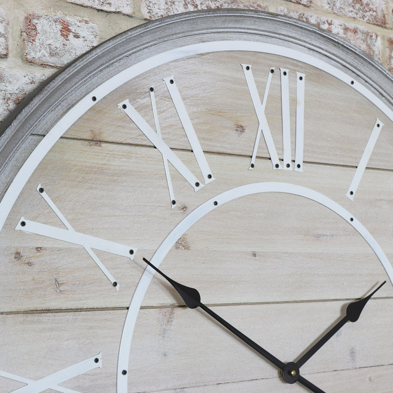 Large Wall Clock - Roman Numeral Display