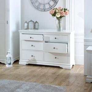 Large White Chest of Drawers - Newbury White Range