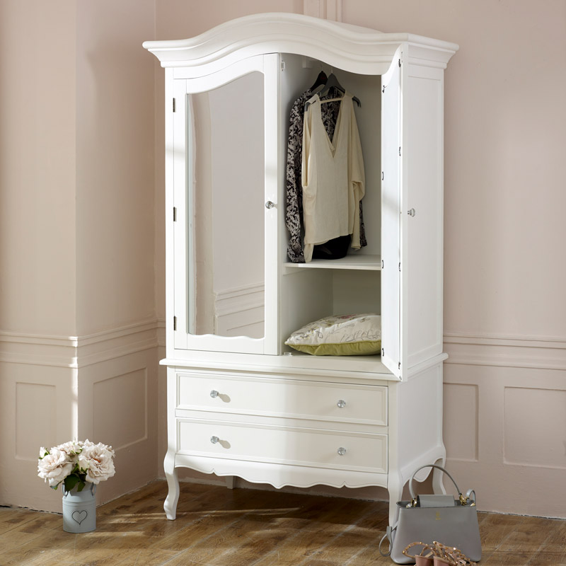 large white double mirrored wardrobe victoria range. Black Bedroom Furniture Sets. Home Design Ideas